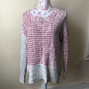 Roxy Oversized Multipatterned Striped Sweater L